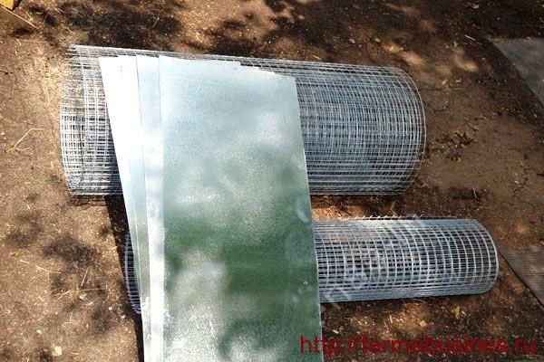 Требуемые материалы: сетка, листы