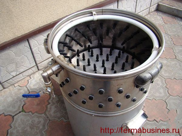 Машина для снятия пера. Правила забоя перепелов
