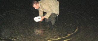 Лов раков ночью