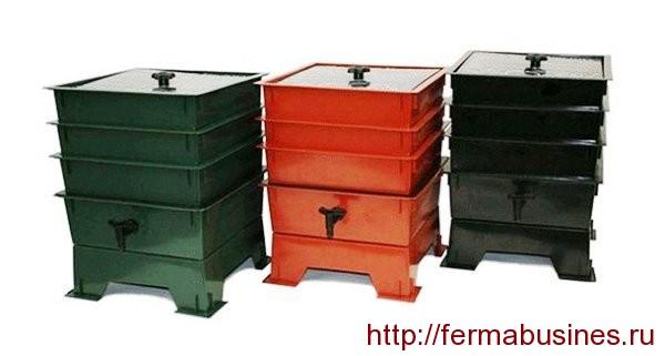 Ящики для разведения червей заводского изготовления