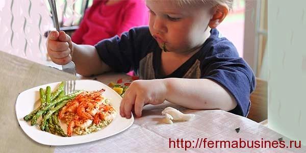 Детям можно есть креветки!