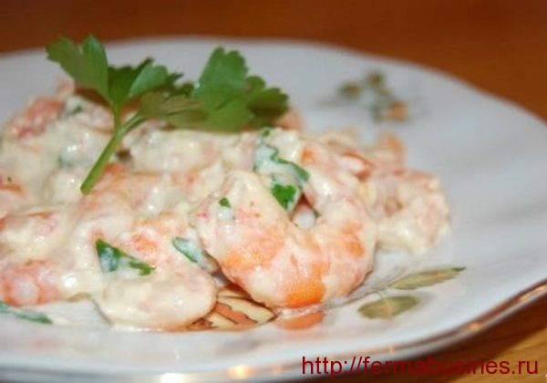 Морепродукты под соусом