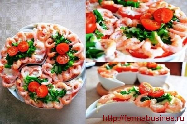 Салатики с морепродуктами
